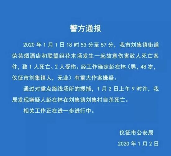 金华武义县全网seo优化图片_江苏仪征命案:嫌疑人因拆迁入狱 出狱后扬言杀人