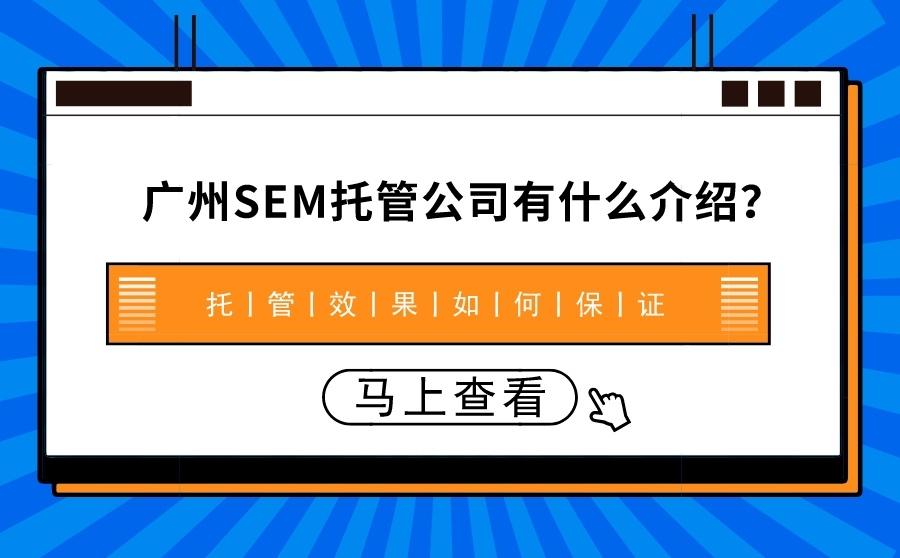 广州SEM托管公司有什么介绍?托管效果如何保证