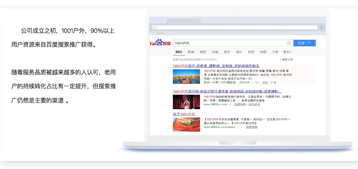 户外旅行网百度搜索营销推广