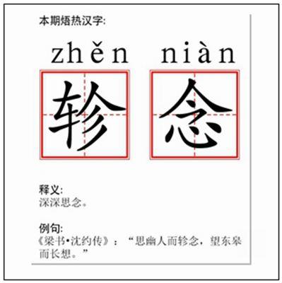 《轸念》拼音/读音/英语/繁体字 词语大全