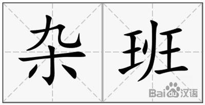 杂班的拼音_杂班的读音_杂班的英文 - 词语杂班