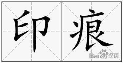 印痕的拼音_印痕的读音_印痕的英文 - 词语印痕