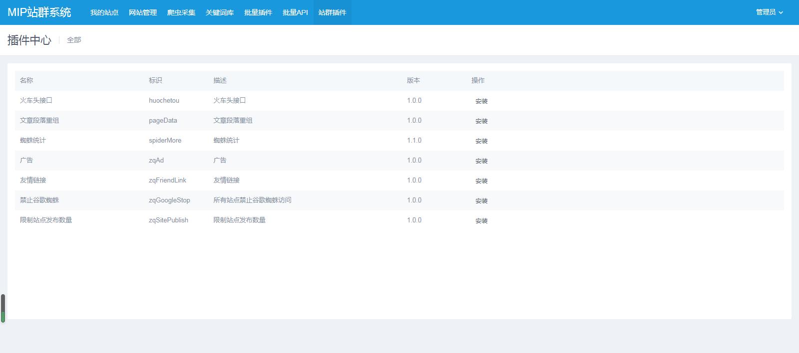 【价值4999元】mip站群程序_mip站群管理系统_MIP建站系统站群旗舰版v2.5