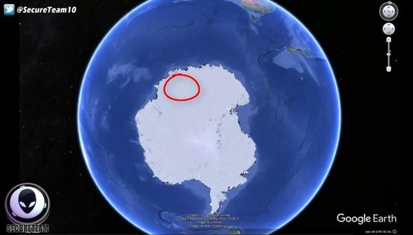 南极大陆发现不明的神祕物体,有可能是UFO基地
