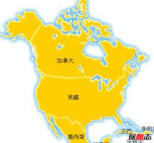 北美海岸线最长的十个国家:美国海岸线排名第三
